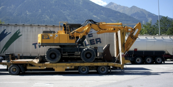 Firma Sprenger Transport Tieflader