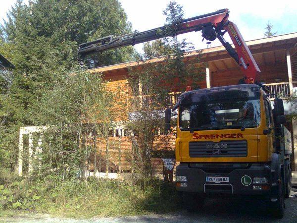 Firma Sprenger Kranarbeiten Leistungen