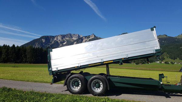 Firma Sprenger Metalltechnik 14t Tandem Kipper drei Seiten